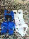 Экипировка для единоборств) Шлем, футы, бандаж, перчатки