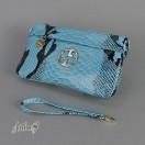 Клатч кожаный женский голубой Gucci