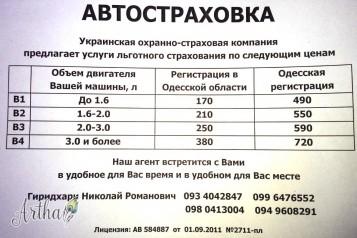 Автостраховка ОСАГО КАСКО полис Зеленая карта