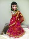 Кукла-гопи в красном сари